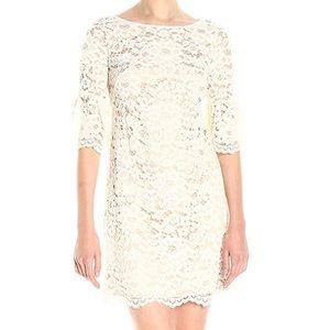 VINCE CAMUTO Cream Lace Dress